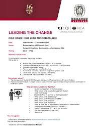 bureau change 13 qms lead auditor course