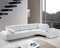 Sectional Sofa Set White Leather Modern Design Sectional Sofa Set 44l0738