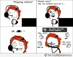 Online Memes - girl playing online