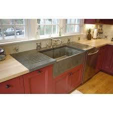 apron sink with drainboard betonas apron front farm sink drainboard but it s concrete