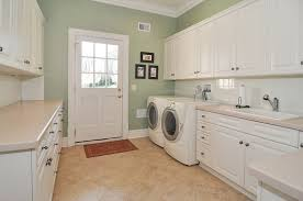 White Cabinets For Laundry Room Traditional Laundry Room With Front Loading Dryer Front Loading