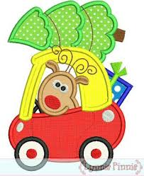 christmas applique christmas reindeer in coupe car applique 4x4 5x7 6x10 welcome to