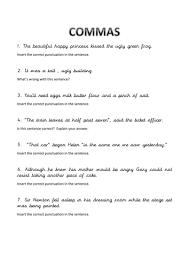 all worksheets punctuation worksheets ks3 free free printable