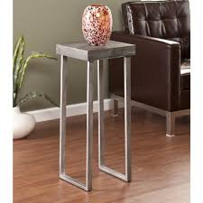 Small Metal Accent Table Southern Enterprises Blythe Pedestal Accent Table U2013 Silver