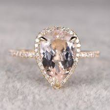 morganite pear engagement ring morganite pear engagement rings ebay