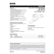 kohler faucet k 12177 cp fairfax polished chrome pullout spray