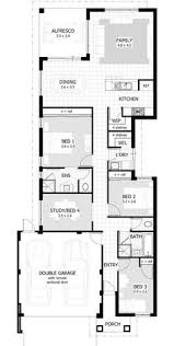 ardross single storey narrow home design floor plan western