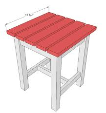 Kreg Jig Adirondack Chair Plans Ana White Adirondack Stool Or End Table Diy Projects