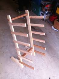 hand made skateboard rack by moose time design custommade com custom made skateboard rack