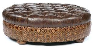 large round leather ottoman yellow leather ottoman large size of nice brown leather large square