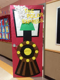 all aboard the polar express classroom christmas door choo choo