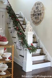 Christmas Banister Garland Ideas Whimsical Christmas Home Tour
