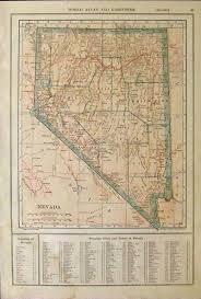Nevada Map Prints Old U0026 Rare Nevada Page