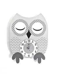 Owl Decor Owl Clock Wood Clock Owl Nursery Decor Owl Decor