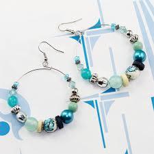 hoop beaded earrings fabulous hoop earring various styles with silver tone hoop