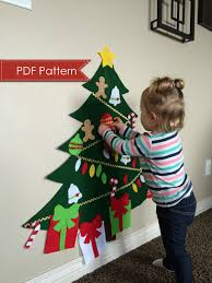 felt christmas tree digital pattern no sew diy printable pdf