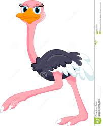 cute ostrich cartoon royalty free stock photo image 35370445