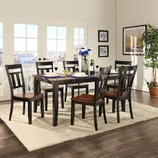 homesullivan cherry hill 7 piece rich cherry and black dining set