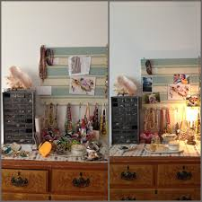 tiptoethrough before and after organizing my jewelry and dresser top