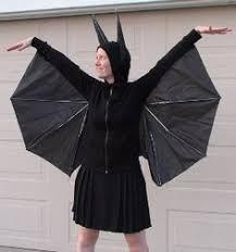 Bat Costume Halloween Recycle Umbrella Bat Halloween Costume