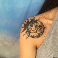 collection of 25 moon sun tattoos for