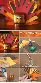 easy and safe glowing turkey craft for inexpensive to