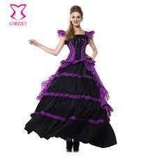Halloween Ball Gowns Costumes Cheap Halloween Ball Gowns Purple Aliexpress