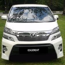 Pj Toyota Toyota Vellfire 2 4a Kl Petaling Jaya Luxury Mpv Rental Dmc