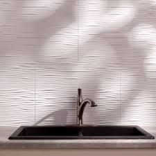 fasade waves matte white 18 square foot backsplash kit by fasade