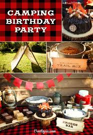 ernstopia camping birthday party