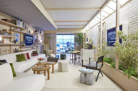 design firm commune dresses a pop up oscar lounge in hollywood