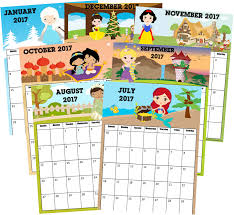 free printable princess calendar