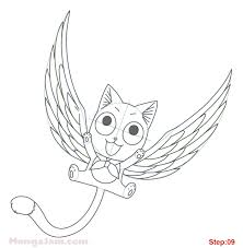how to draw happy with wings from fairy tail mangajam com