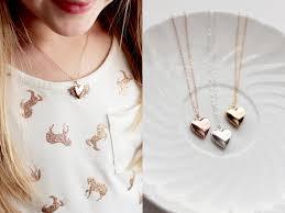 children s lockets children s locket necklace solid heart shaped dainty