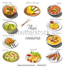 set cuisine cuisine set collection food dishes เวกเตอร สต อก 551642173