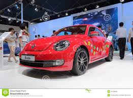 red volkswagen beetle red volkswagen beetle car editorial stock photo image 42136803
