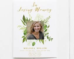 programs for funerals funeral program etsy