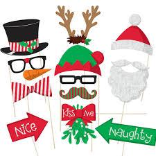 christmas photo booth props christmas photo booth prop kit photo booth props