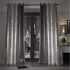 Slate Gray Curtains Minogue At Home Natala Slate Grey Silver Velvet Lined Ready