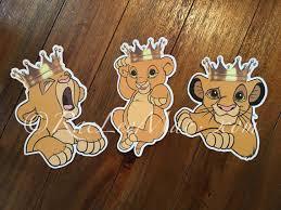 lion king baby shower decorations crowned simba lion king cutouts diecuts lion king baby shower