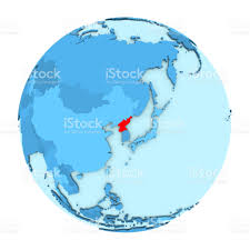 Korea On Map North Korea On Globe Isolated Stock Vector Art 650218300 Istock