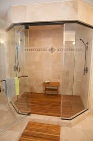 Teak Benches For Showers Furniture Fabulous Small Grey Bathroom Shower Decoration Using