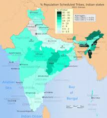 India Map Of States by File 2011 Census Scheduled Tribes Distribution Map India By State