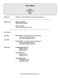 Resume Sample For Lecturer Teacher Resume Template