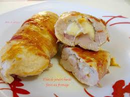 cuisiner des filets de poulet filet de poulet bardé farci au fromage diet délices recettes