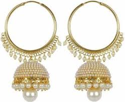 jhumka earrings flipkart buy meenaz wedding bridal jewellery kundan pearl