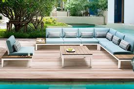 pebble outdoor coffee table ab pebble beach 6pc sofa kit set white osmen outdoor furniture
