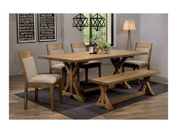 garage table and chairs coaster douglas rustic dining table set with bench dunk bright
