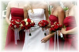 Red Wedding Bouquets Best Bouquets For Red Bridesmaid Dresses Bunchesdirect