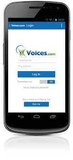 android log logging in to the voices android app voices